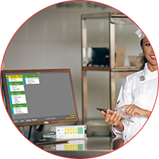 Production management in the kitchen is a complex task and highly affects to the quality of food as well as the quality of service. The Smart Kitchen System visually displays all orders from the POS with specific indicators and instructions about processing time, recipe and workflow management which helps the kitchen operation automating like a factory.